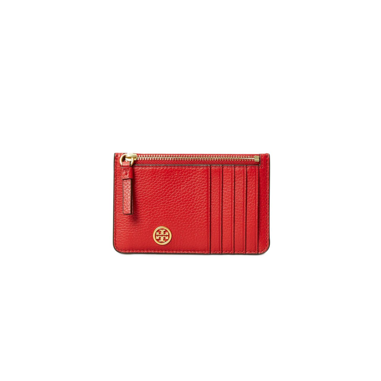 TORY BURCH Πορτοφόλια γυναικεία Tory Burch Κόκκινο WALKER TOP-ZIP CARD CASE
