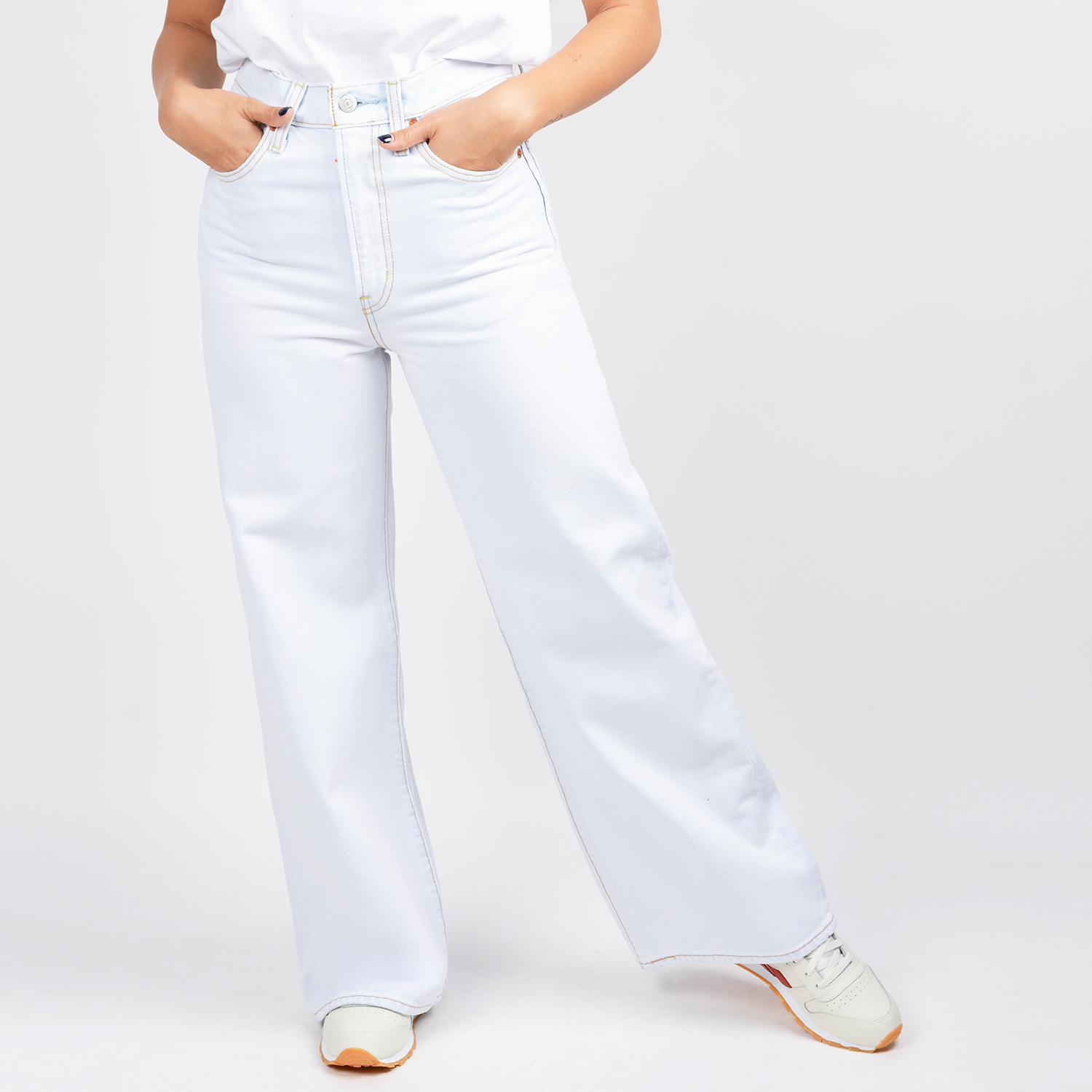 Levi's Ribcage Wide Leg In Cold As Ice Jeans (9000048406_44387)