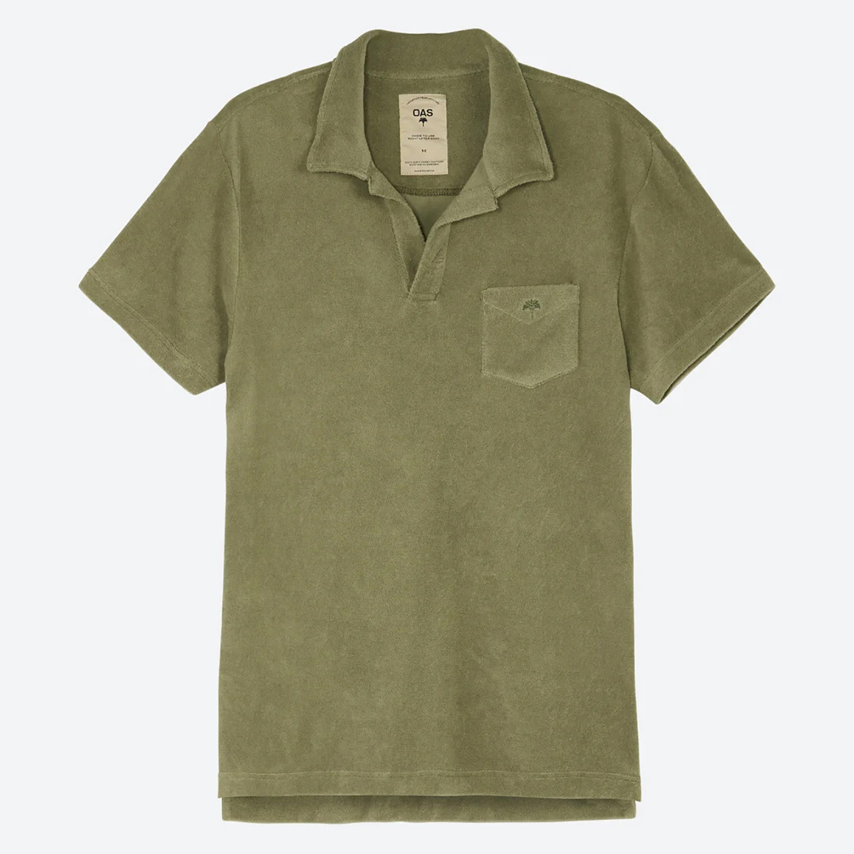 OAS Solid Khaki Ανδρικό Polo T-shirt (9000079955_3565)