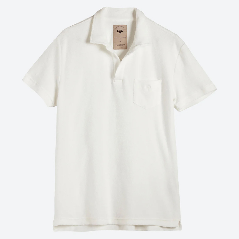 OAS Solid White Ανδρικό Polo T-shirt (9000079953_1539)