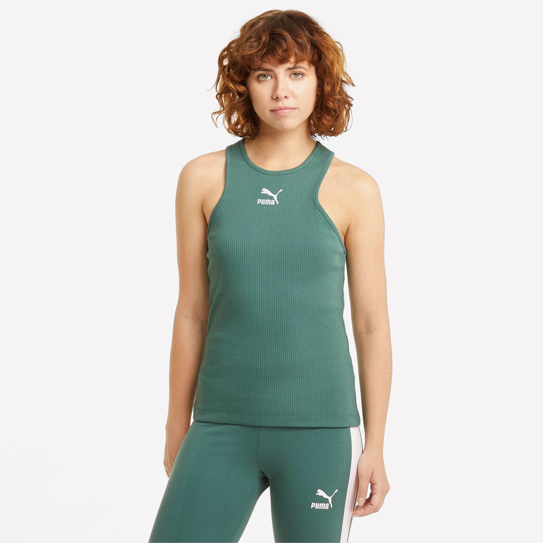 Puma Classics Rib Racerback Γυναικεία Αμάνικη Μπλούζα (9000072447_25829)
