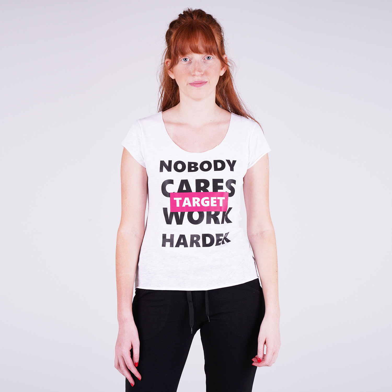"Target Target Loose Top Καλτσα Φλαμα ""Work Harder"" Γυναικεία Μπλούζα (9000053646_3198)"