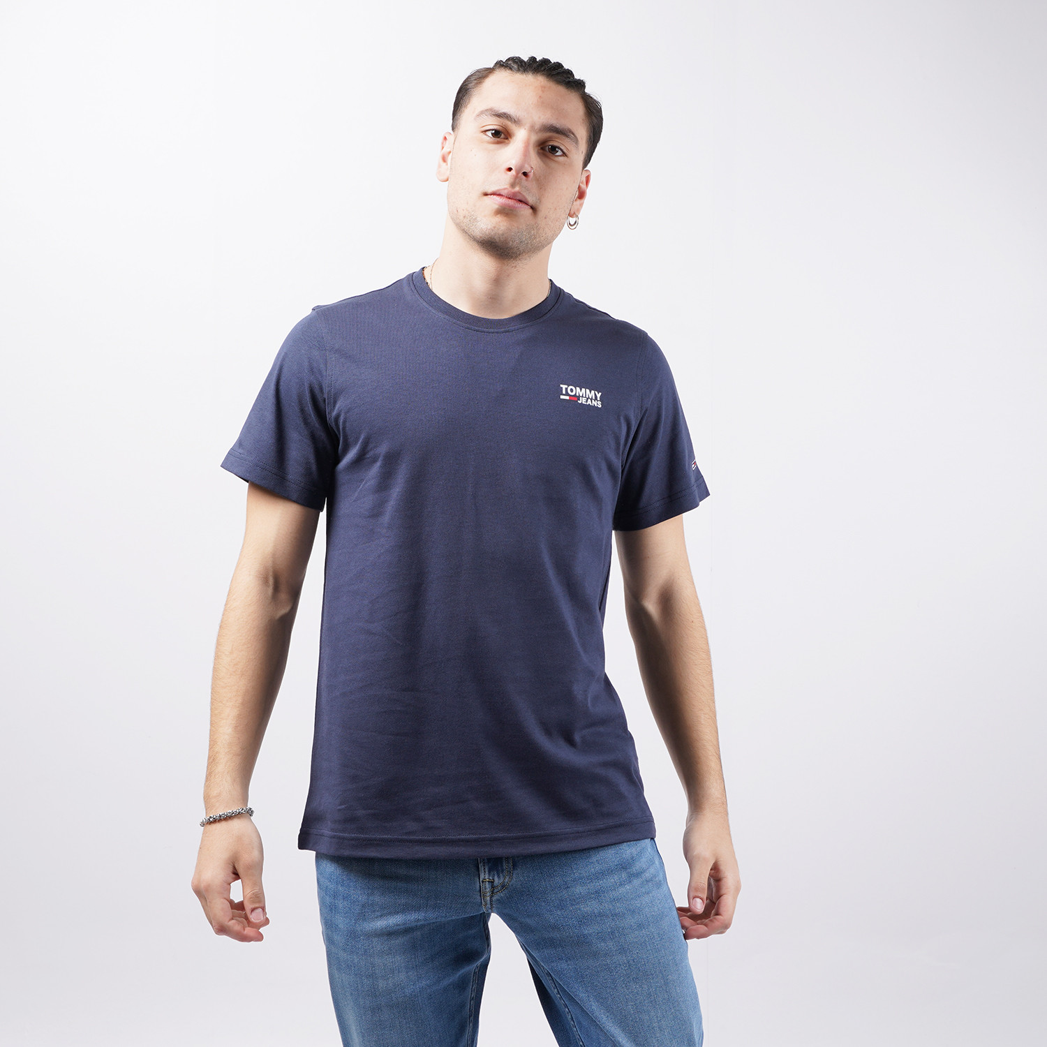 Tommy Jeans Tommy Jeans Regular Corp Logo Ανδρικό T-Shirt (9000074641_45076)