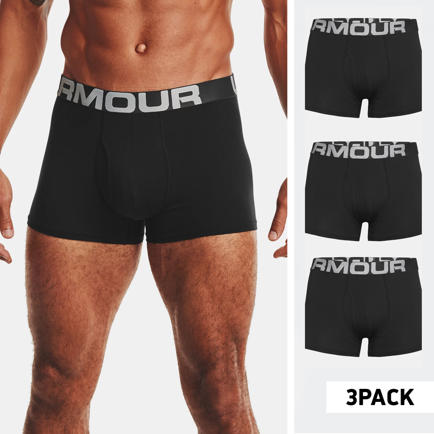 Under Armour Charged Cotton 3In 3-Pack Ανδρικά Μπόξερ (9000070844_50743)