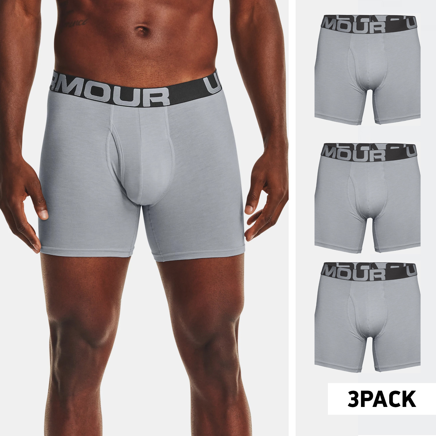 Under Armour Charged Cotton 6In 3-Pack Ανδρικά Μπόξερ (9000070846_50863)