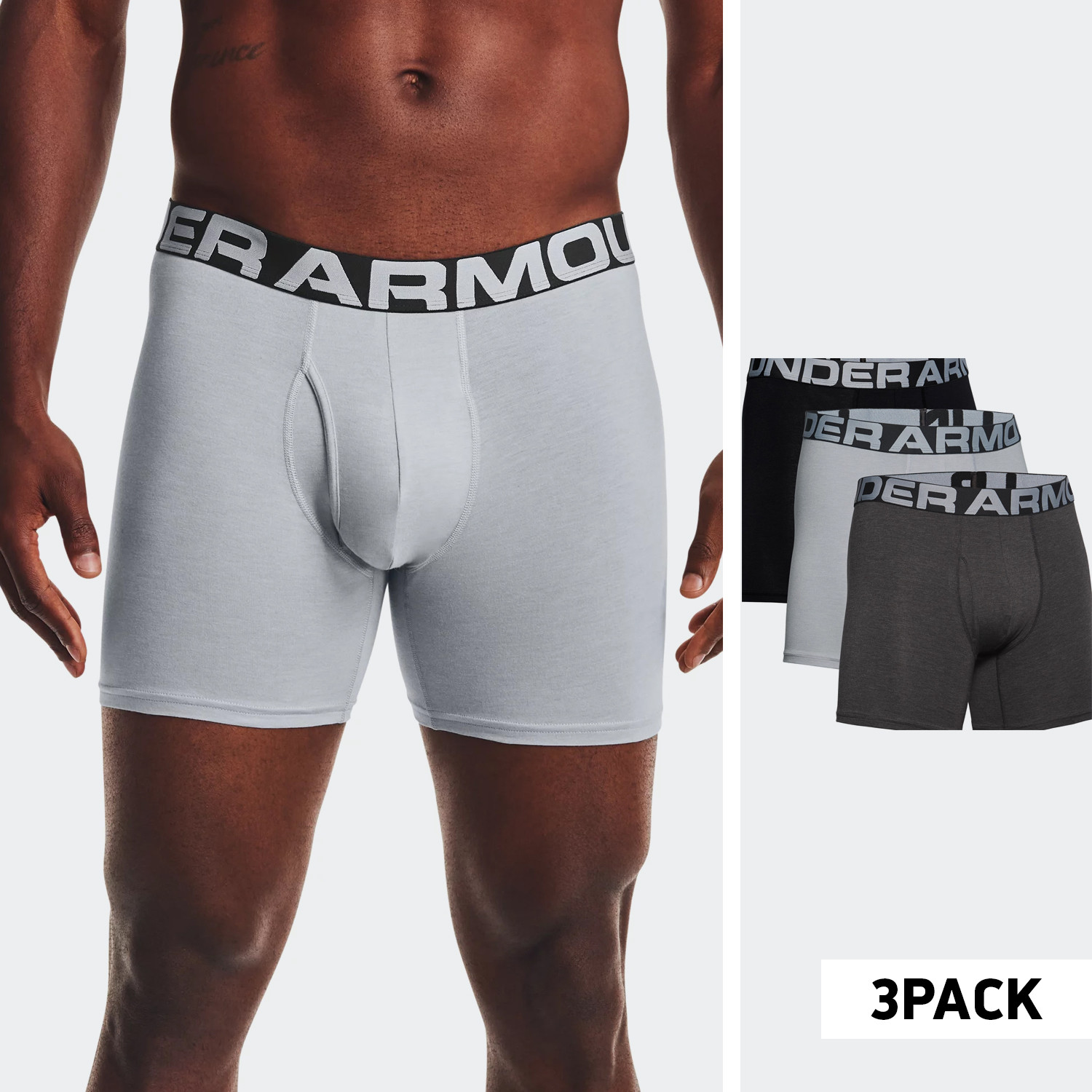 Under Armour Charged Cotton 6In 3-Pack Ανδρικά Μπόξερ (9000070847_50862)
