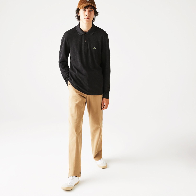 Lacoste Classic Fit Ανδρική Polo Μπλούζα με Μακρύ Μανίκι (9000065426_49208)
