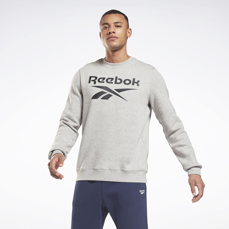 Reebok Identity Fleece Crew Ανδρική Μπλούζα Με Μακρύ Μανίκι (9000083642_7748)