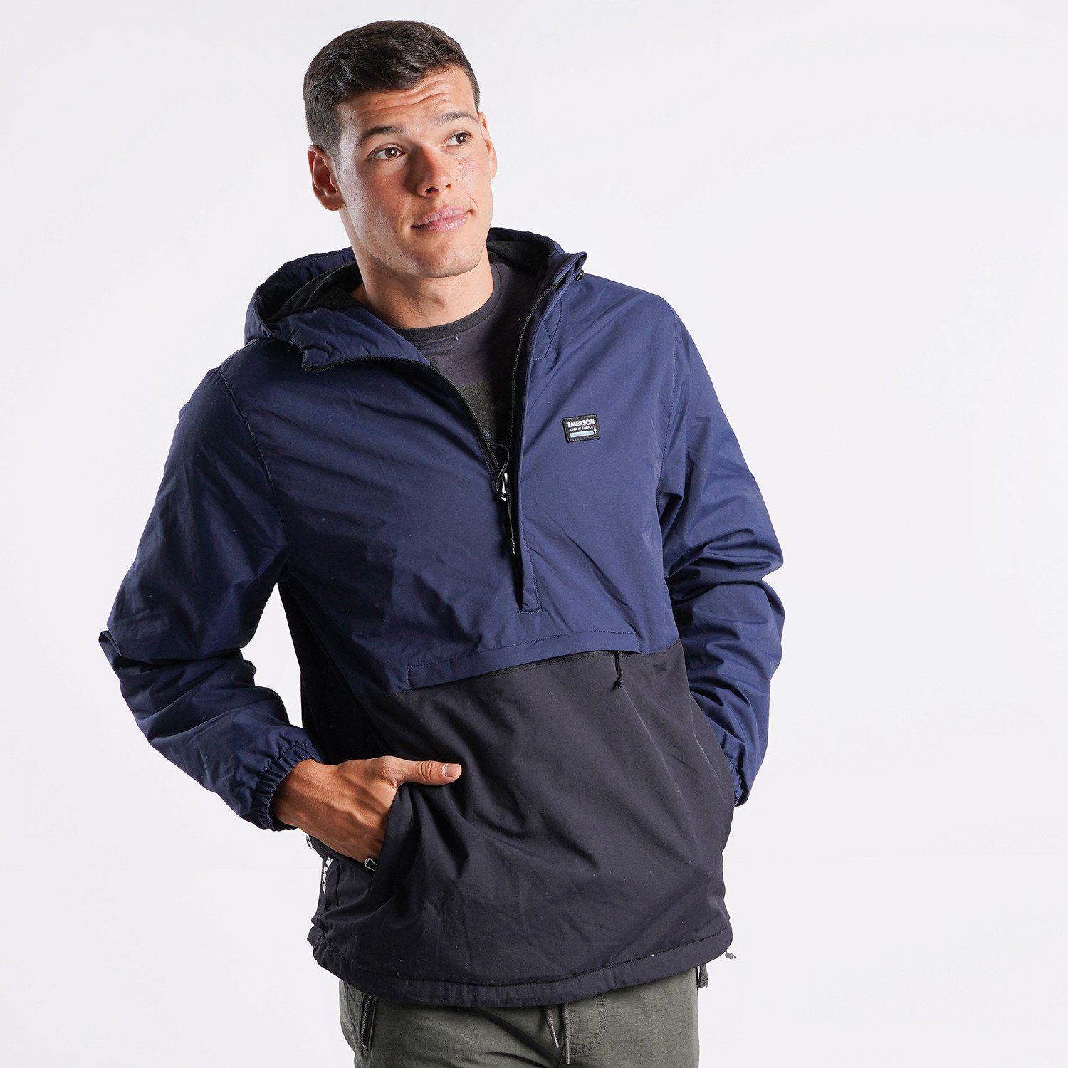 Emerson Men's Pullover Jacket with Hood (9000090498_55858)