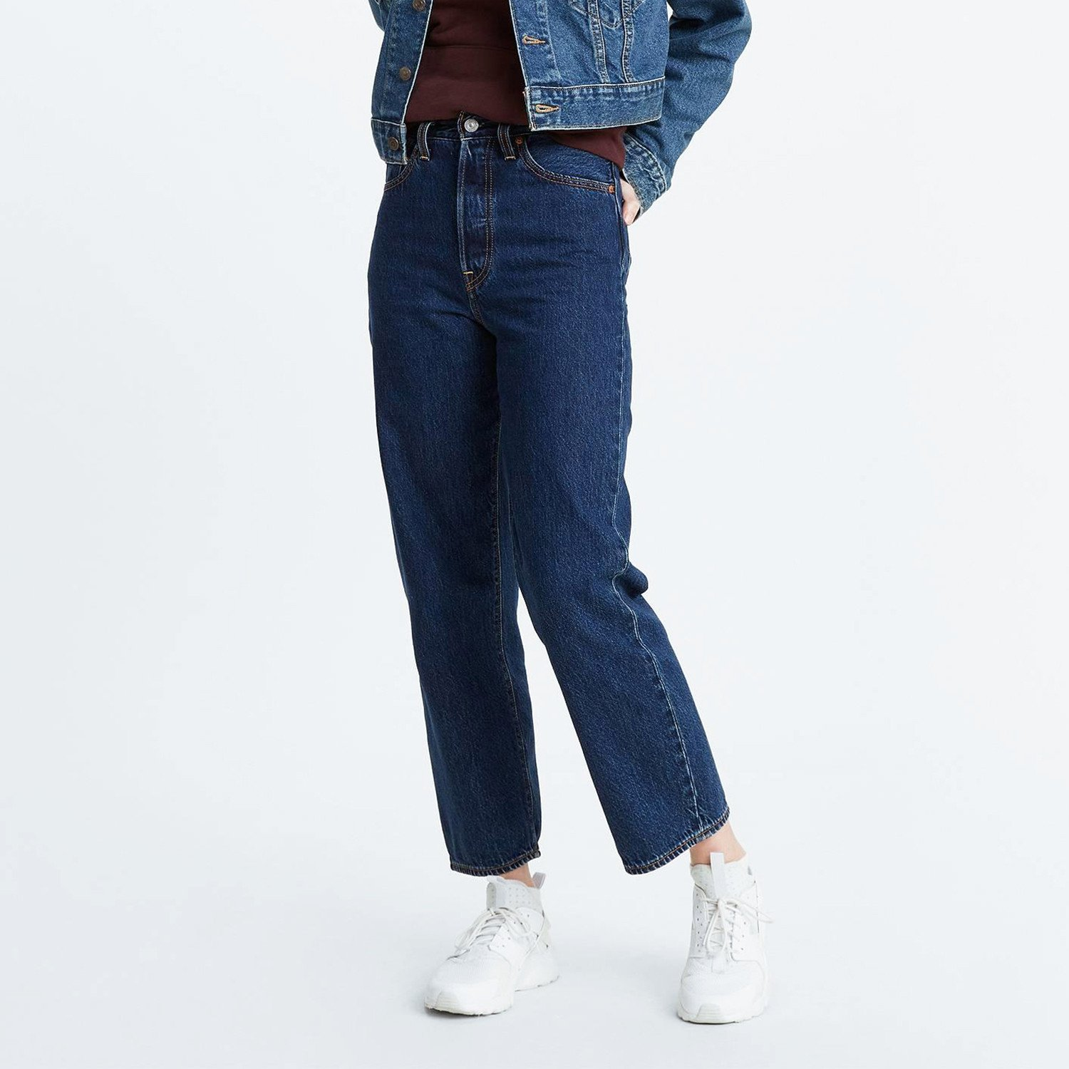 Levis Ribcage Straight Ankle Noe Dark Mineral (9000087150_26099)