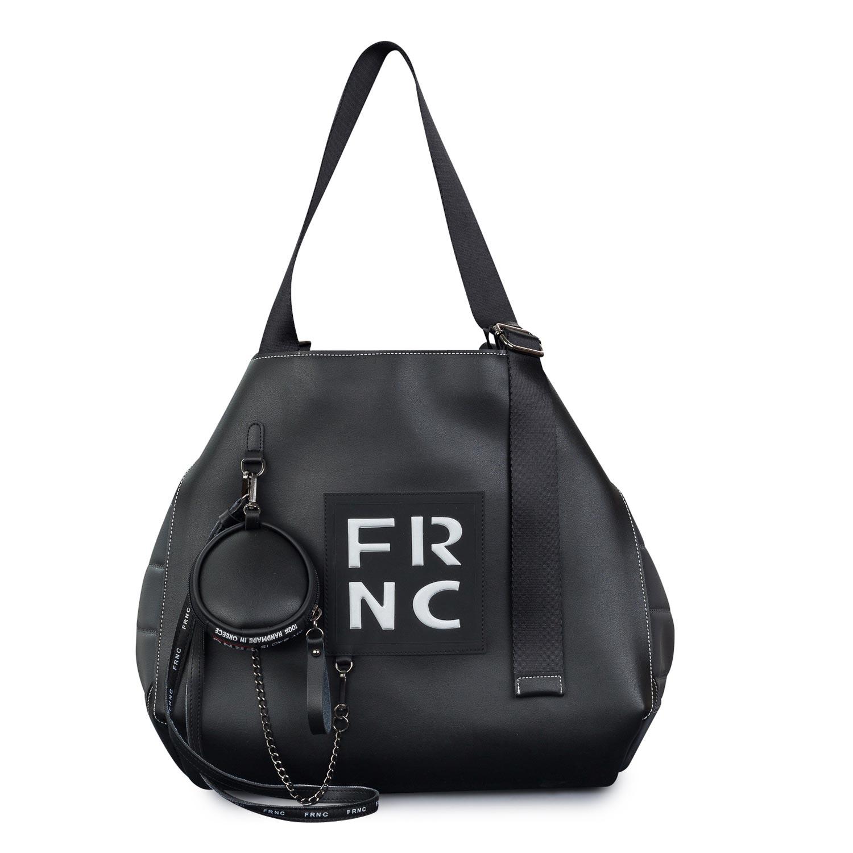 Shopping γυναικεία Frnc Μαύρο-Γκρι 1776