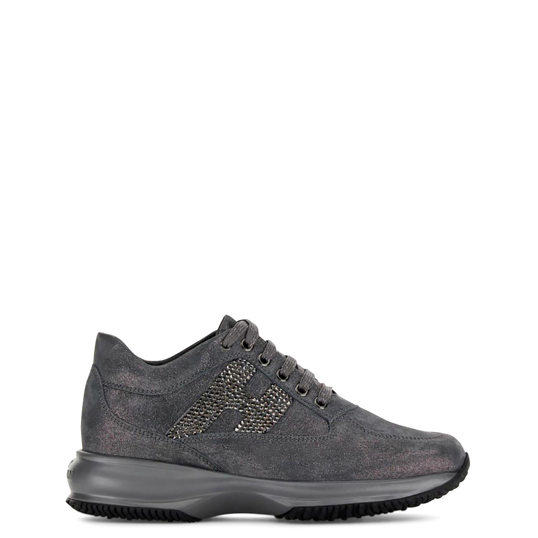 Sneakers γυναικεία Hogan Γκρι INTERACTIVE H STRASS