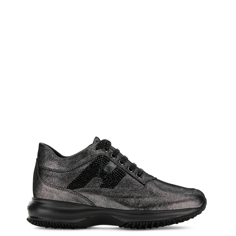 Sneakers γυναικεία Hogan Μαύρο INTERACTIVE H STRASS
