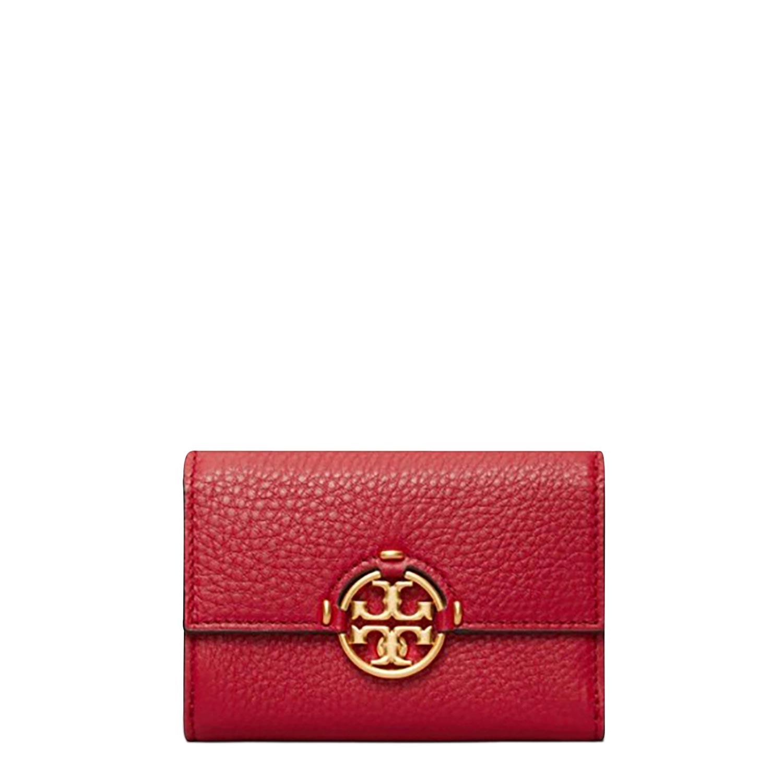 Πορτοφόλια γυναικεία Tory Burch Κόκκινο MILLER MEDIUM WALLET