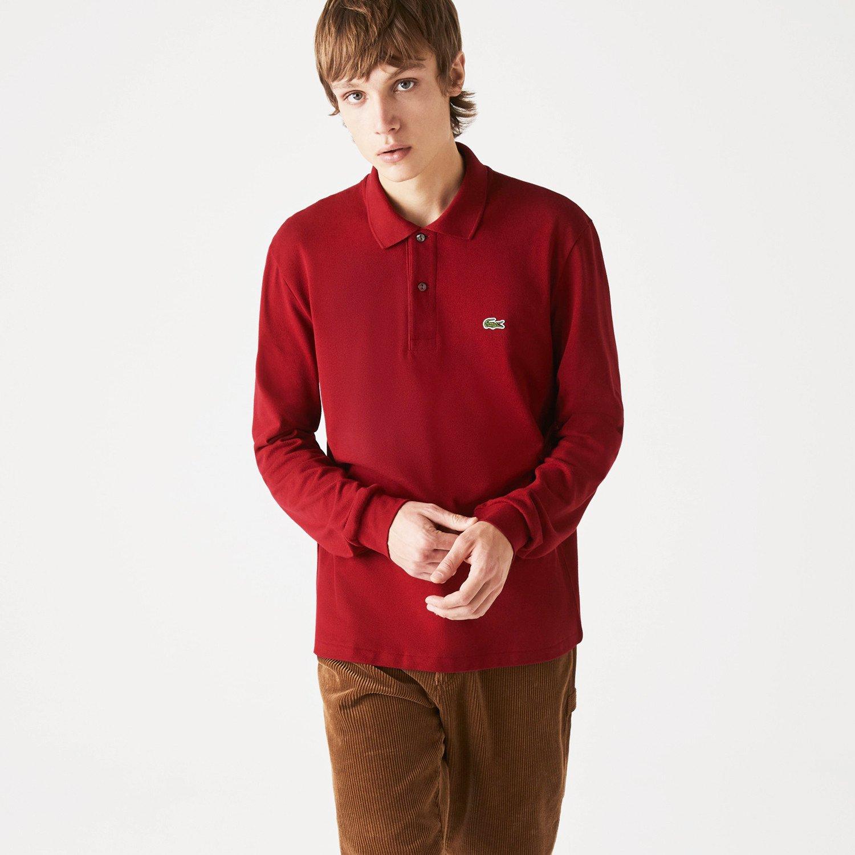 Lacoste Classic Fit Ανδρική Polo Μπλούζα με Μακρύ Μανίκι (9000091810_56116)